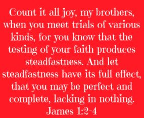 Suffering: Count It All Joy