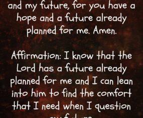 Hope and a Future.