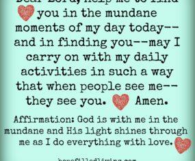 Finding God in the Mundane.