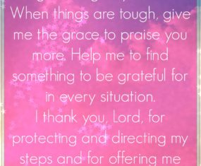 A Prayer For The New Week