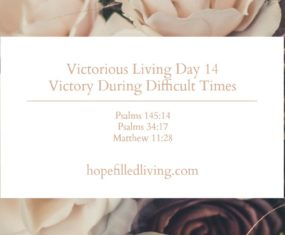 Victorious Living Day 14: Victory During Difficult Times