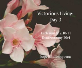 Victorious Living Day 3: Victory Over Trials Devotional